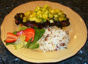 Steak with Pineapple Relish